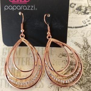 3/$10 Copper Tear drop shaped Earring